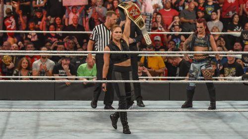Ronda Rousey beat Ruby Riott