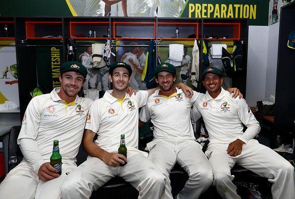 Australian players after the match