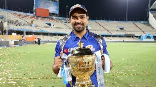 Rohit Sharma with his 3rd IPL title in 2017.