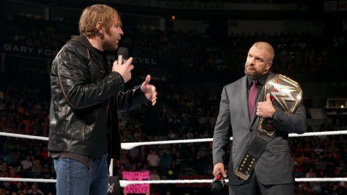 Dean Ambrose vs Triple H took place at Roadblock 2016
