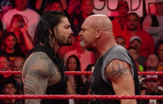 goldberg and roman reigns