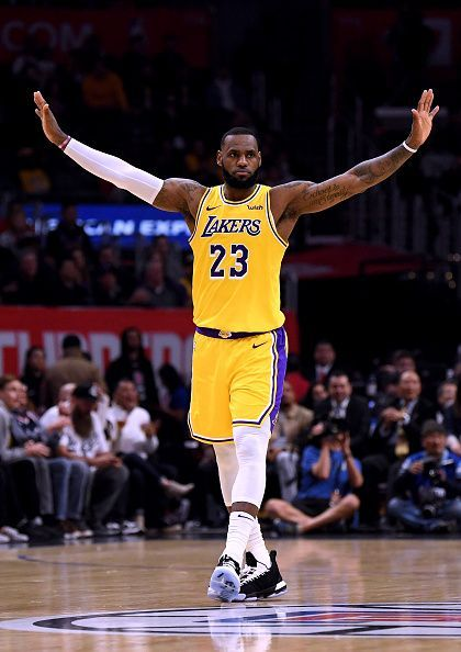 Los Angeles Lakers' LeBron James is one of the two captains for the 2019 NBA All-Star Game