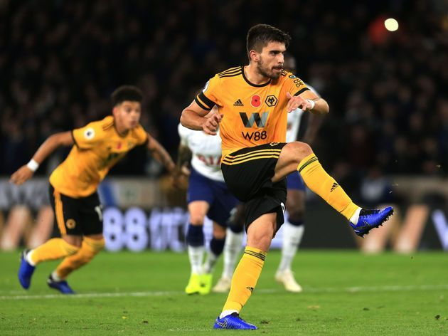 Ruben Neves playing the ball in