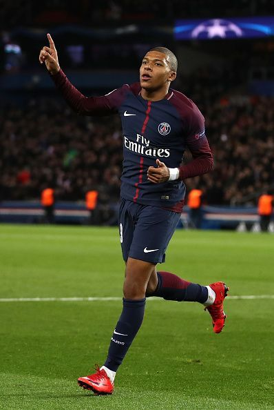 Mbappe celebrating a goal
