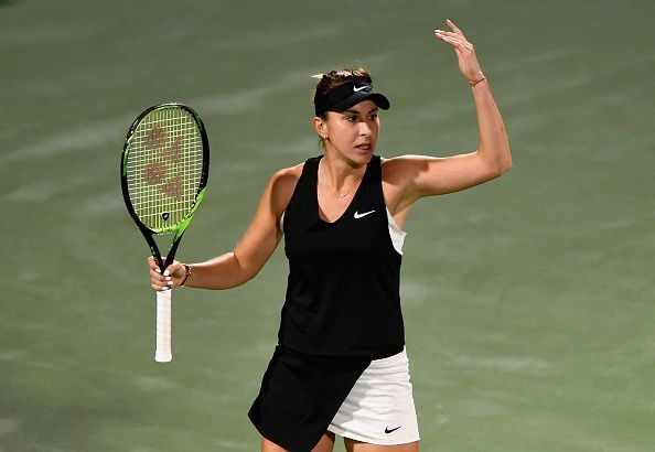 Belinda Bencic during her semi-final match with Elina Svitolina