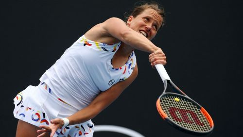 Barbora Strycova in action