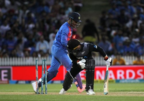 Dhoni was lightning quick behind the stumps to dismiss Seifert