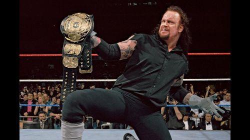 The Deadman defeated Hulk Hogan to become WWF Champion.