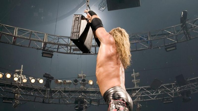 Edge winning the first-ever Money in the Bank ladder match