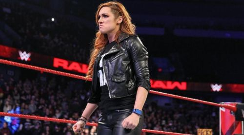 Becky Lynch was suspended by Vince McMahon on RAW