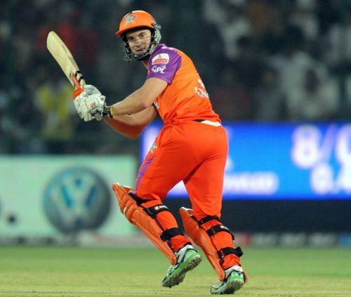 Michael Klinger glances the ball away during his stint with Kochi Tuskers Kerala