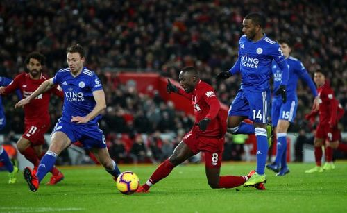 Keita was unfortunate not to have been awarded a spot-kick after Ricardo Pereira's challenge