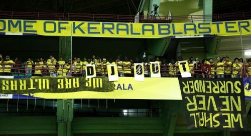 A section of the Manjappada, Kerala Blasters' fan group (Picture for representation)