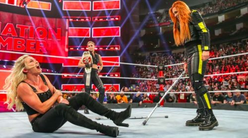 Becky Lynch was able to make her way to the ring untouched