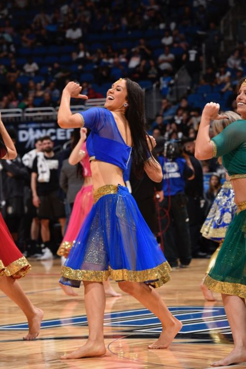 Orlando Magic Dancers performing on a Bollywood number