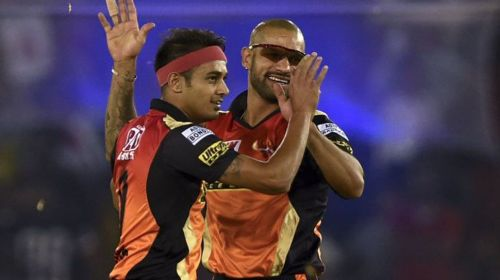 Former SRH teammates Dhawan and Kaul might get to play in the 2nd T20I against Australia