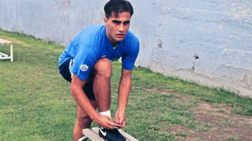 Cannavaro developed at the Napoli academy where he was a ball boy