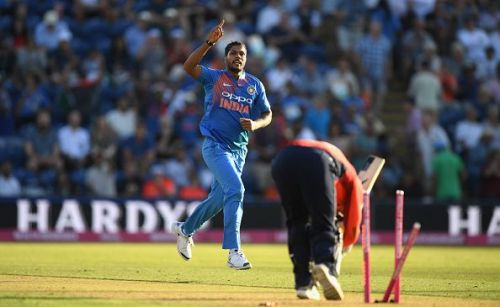 Umesh Yadav clinching yet another wicket