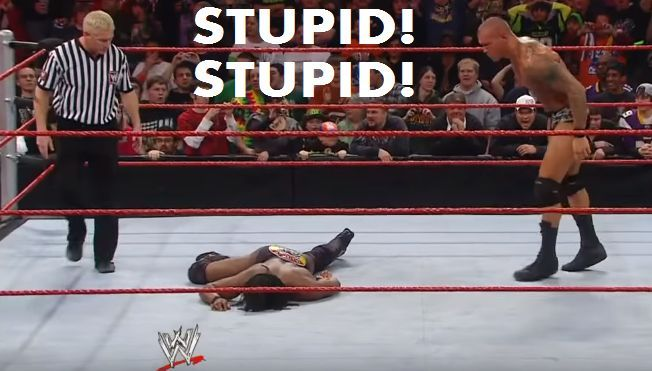 why did randy orton calls kofi stupid