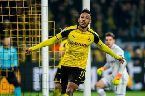 Aubameyang's treble carried Dortmund past Benfica in 2016/17
