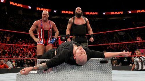 Kurt Angle And Brawn Strowmanj
