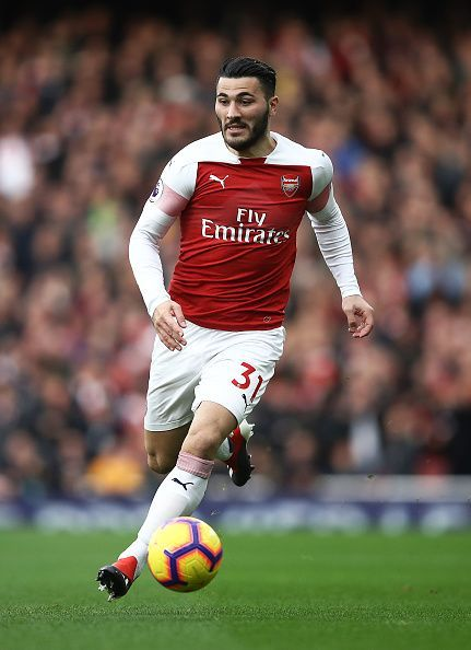 Sead Kolasinac has often been used as a wing back or a winger this season to cover Arsenal's deficiencies in attack