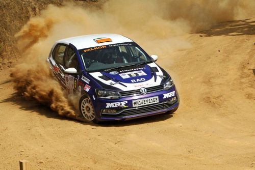 INRC 3 Champion Vikram Rao's Polo in action