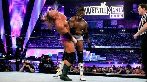 Image result for booker t vs triple h wrestlemania 19