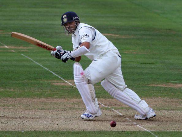 Tendulkar batting against England