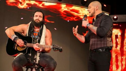 Elias turned face over the weekend to take on Drew McIntyre