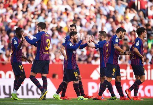 Barcelona scraped past Sevilla