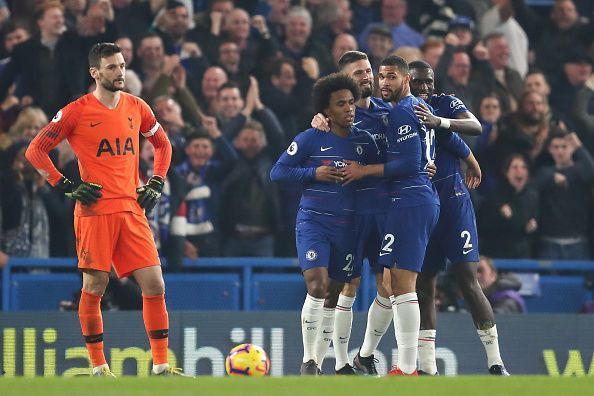 Lloris wilted under the pressure from Chelsea