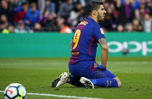 Luis Suarez - frustrated after a disallowed goal