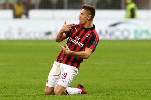 Krzysztof Piatek scored a brace on his AC Milan debut