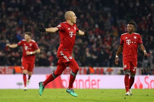 Arjen Robben's shot to the top corner has been a feature of his game.