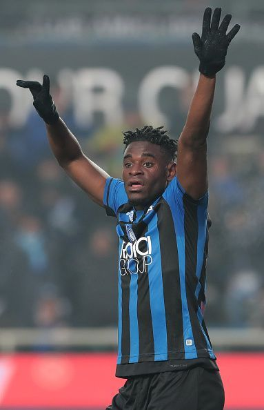 Zapata in the colours of Atalanta BC