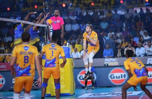 Chennai Spartans' Rudy Verhoeff was the top-scoring spiker in the league