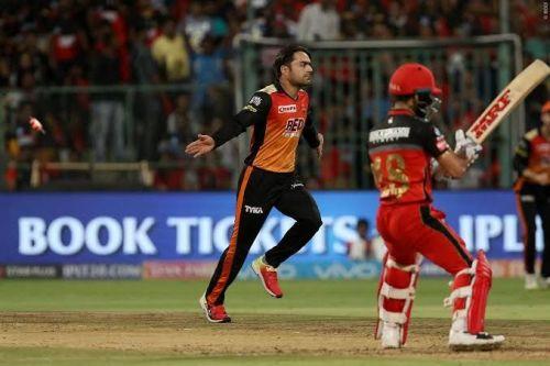 Rashid Khan Takes Virat Kohli Wicket