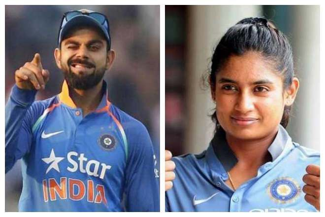 Virat Kohli and Mithali Raj, the two captains