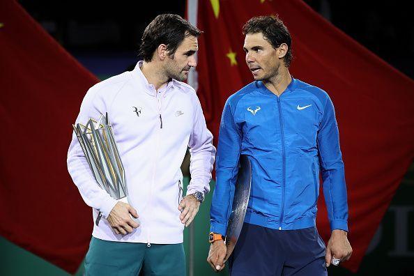 Roger Federer (left) and Rafael Nadal have made the sport immensely popular along with Novak Djokovic