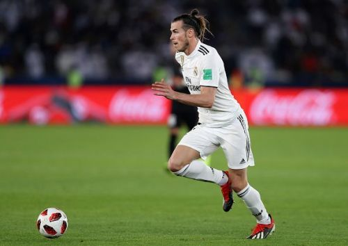 Gareth Bale in action during the FIFA Club World Cup 2018 Enter caption