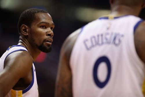 Kevin Durant drained a clutch shot for the Golden State Warriors against the Miami Heat