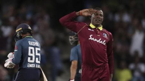 Sheldon Cottrell took a five-wicket haul to hand the WIndies their first victory of this series.