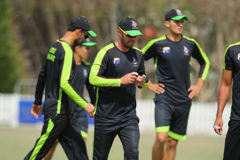 AB de Villiers during Lahore Qalandars Training