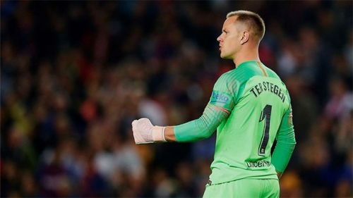 Stegen's goalkeeping kept Barca in the game in the first half.