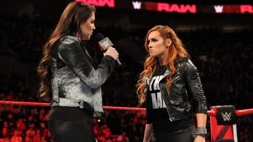 ' The Man' Becky Lynch with Stephanie McMahon