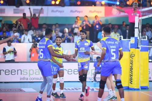 Kochi Blue Spikers completed a stunning comeback win over Chennai Spartans