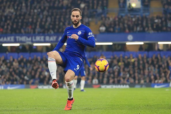 Higuain has scored just twice for Chelsea until now