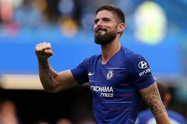 Olivier Giroud scored the opening goal against Malmo in the Europa League