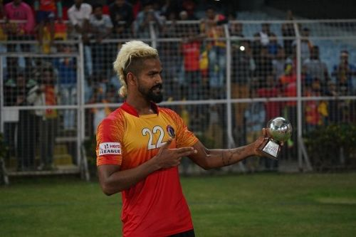 Jobby Justin of East Bengal scored in both legs of the Kolkata Derby against Mohun Bagan during the 2018-19 I-League